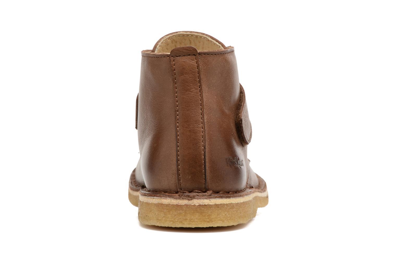 Zapatos con velcro Kickers Rekick Marrón vista lateral derecha