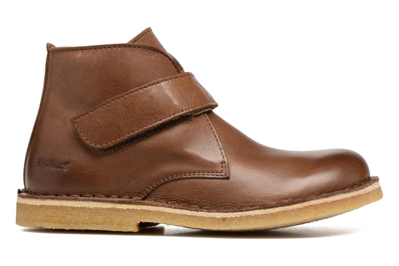 Zapatos con velcro Kickers Rekick Marrón vistra trasera