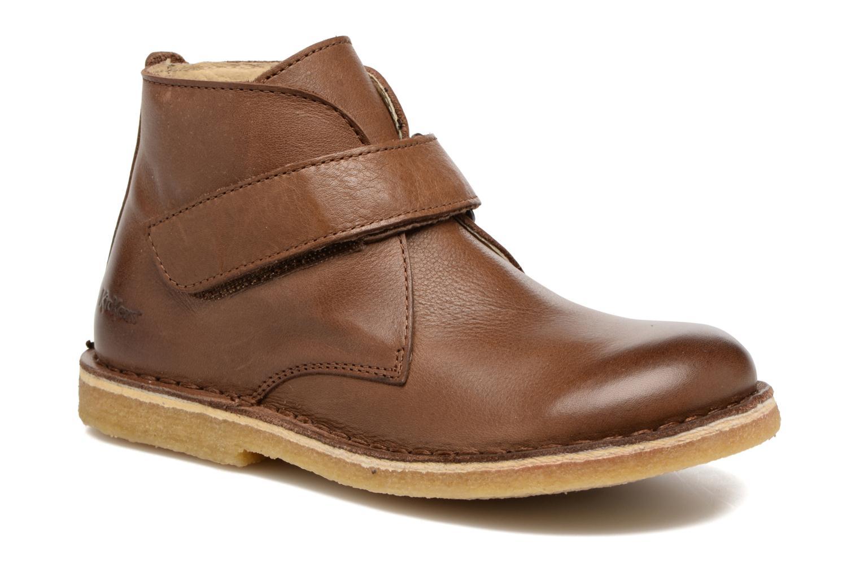 Zapatos con velcro Kickers Rekick Marrón vista de detalle / par