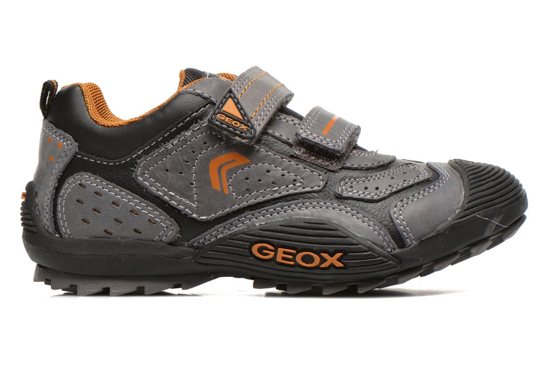 Chaussures de sport Geox J savage a Gris vue derrière