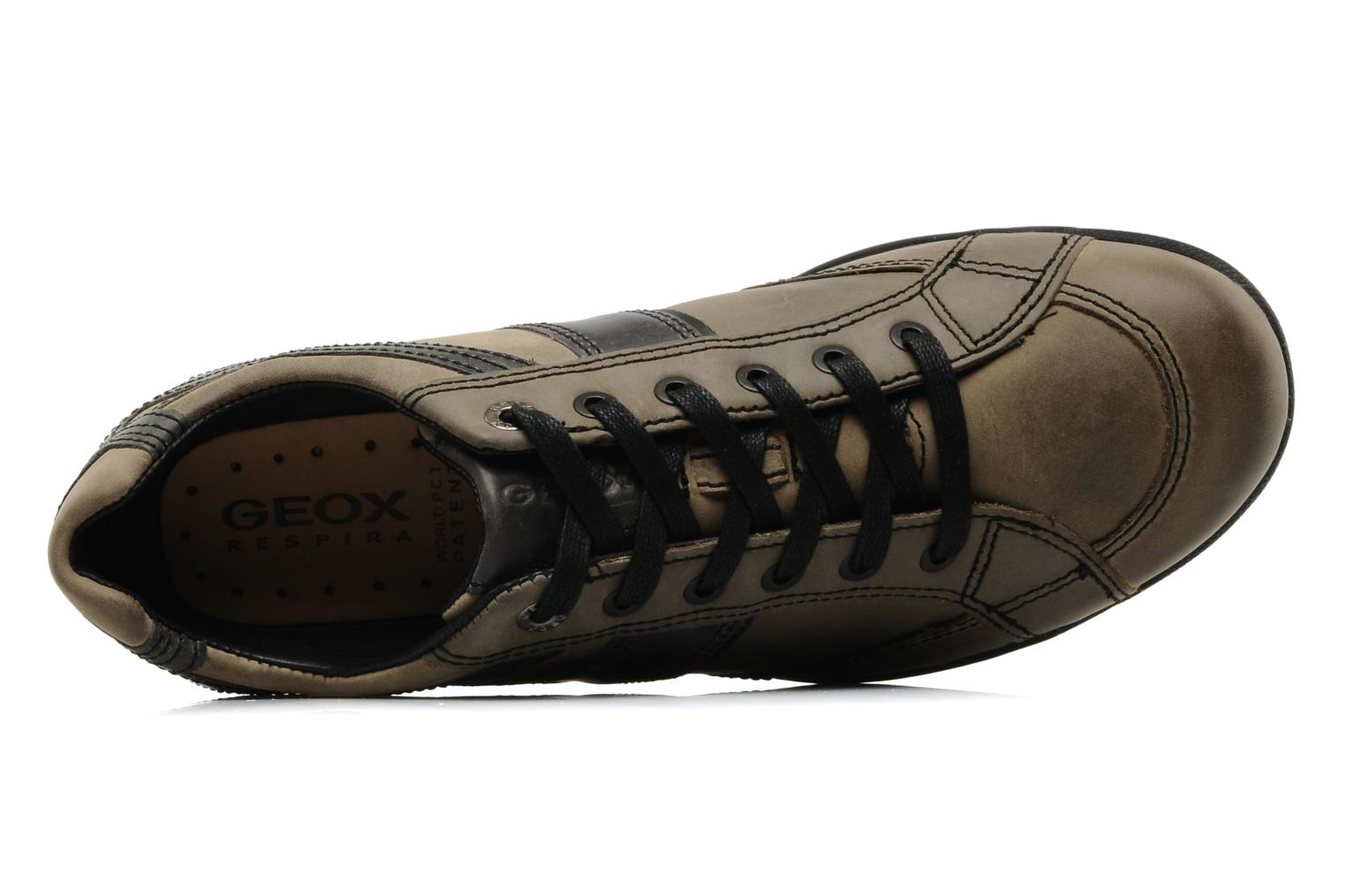Trainers Geox U pietro r Brown view from the left