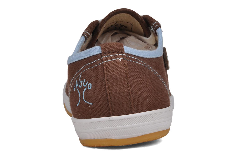 Baskets Faguo Oak w Marron vue droite