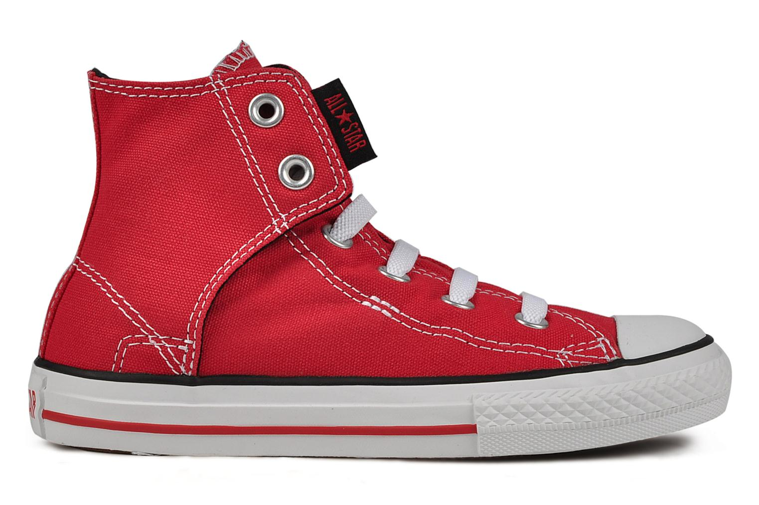 Baskets Converse Chuck taylor all star easy slip hi K Rouge vue derrière