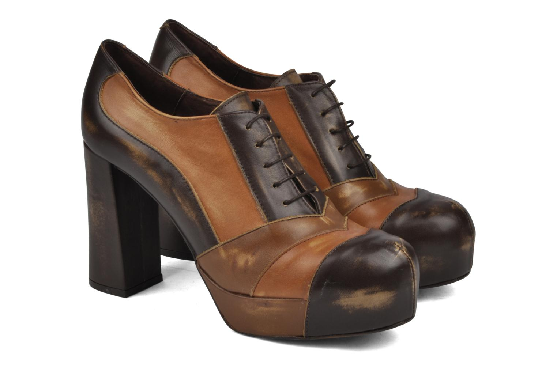 Chaussures à lacets Jeffrey Campbell Alexia Marron vue 3/4