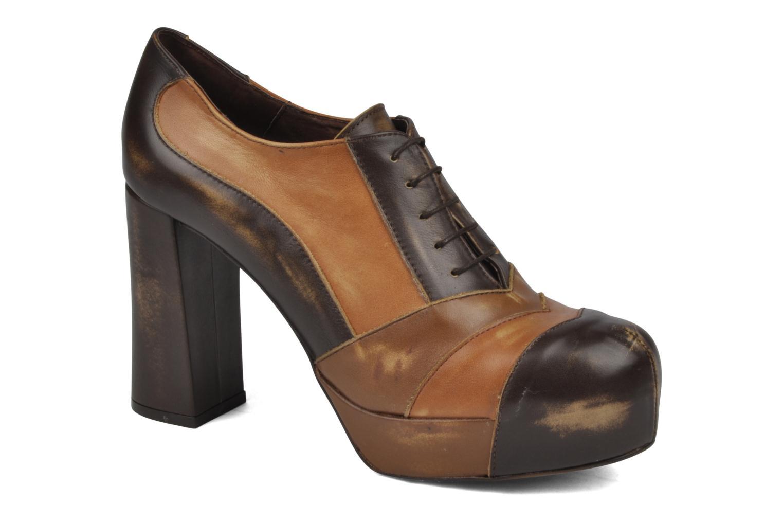 Chaussures à lacets Jeffrey Campbell Alexia Marron vue détail/paire