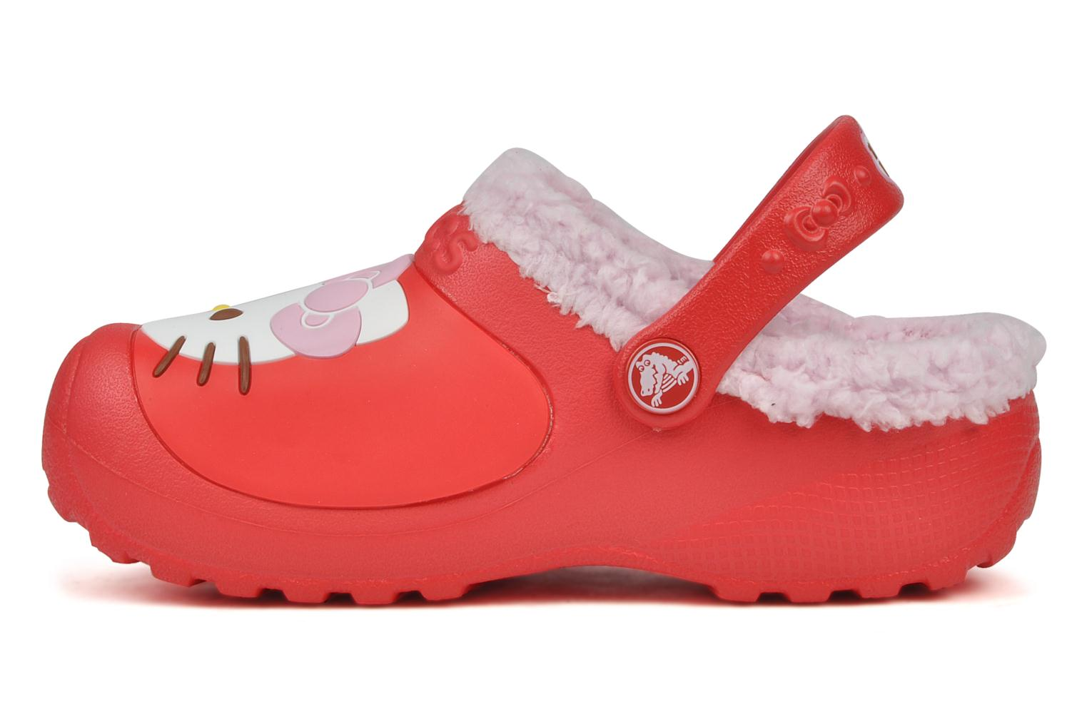 Sandals Crocs Hello kitty lined custom clog Red front view