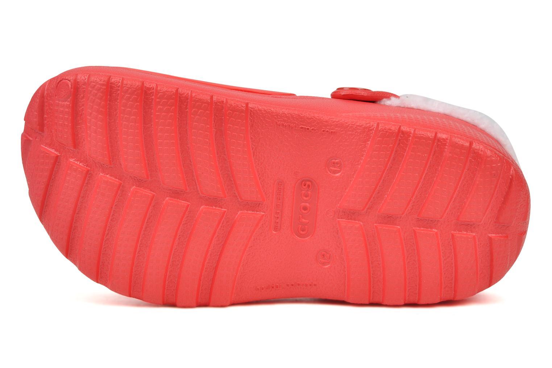 Sandaler Crocs Hello kitty lined custom clog Röd bild från ovan