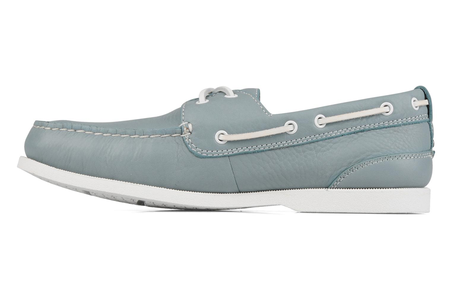 Lace-up shoes Rockport 2 eye boat Blue front view