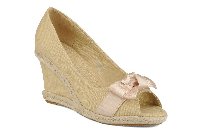 Høje hæle Friis & company Tonika Beige detaljeret billede af skoene