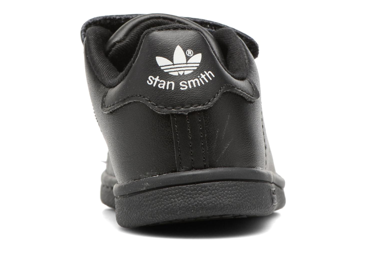 Trainers Adidas Originals Stan smith cf I Black view from the right