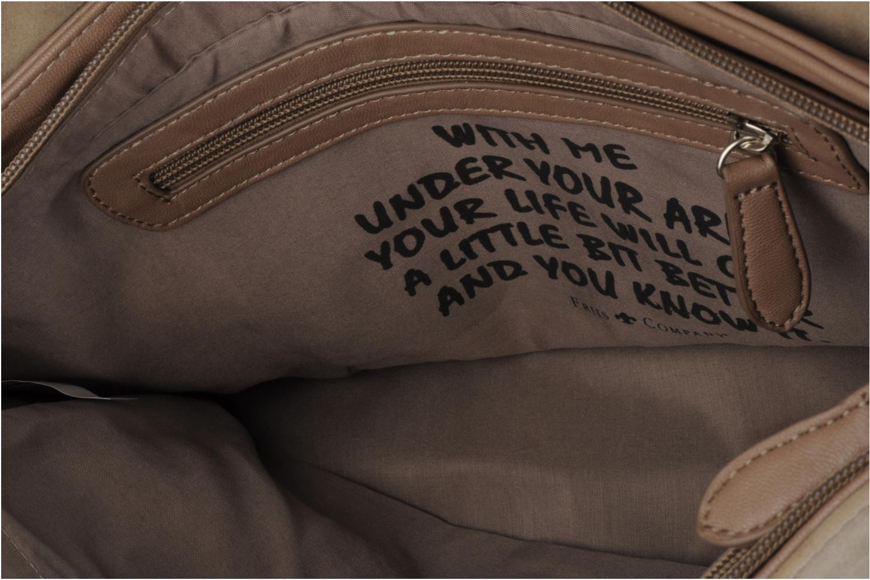 Clutch Friis & company Vintage clutch Beige achterkant