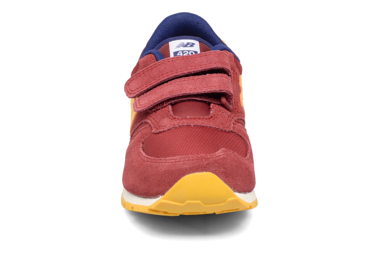 Sneaker New Balance Ke420 weinrot schuhe getragen