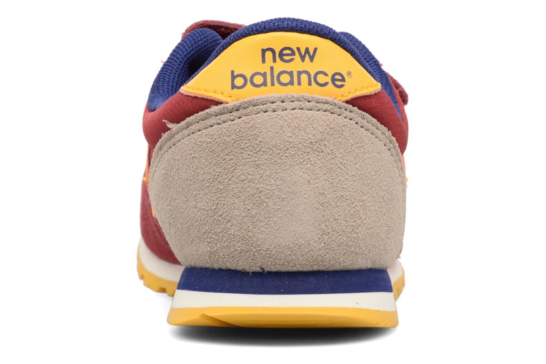 Sneaker New Balance Ke420 weinrot ansicht von rechts