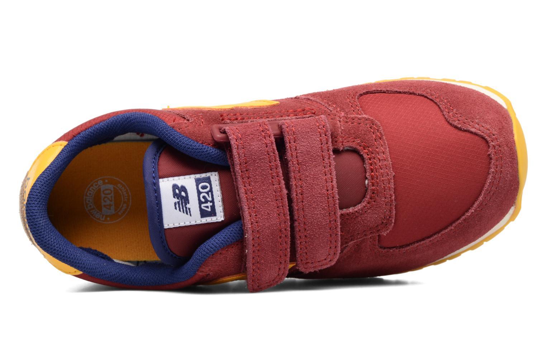 Sneaker New Balance Ke420 weinrot ansicht von links