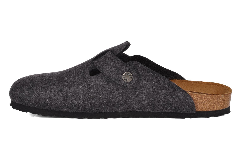 Sandales et nu-pieds Birkenstock Boston Laine M Gris vue face