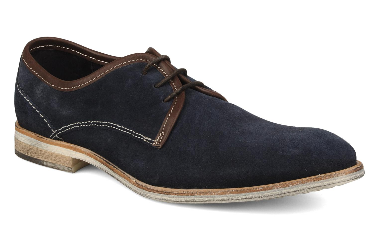 Lace-up shoes H by Hudson Rourke Blue detailed view/ Pair view