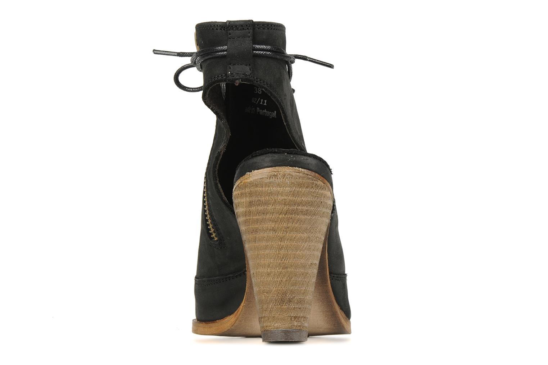 Sandales et nu-pieds H By Hudson Henshaw Noir vue droite