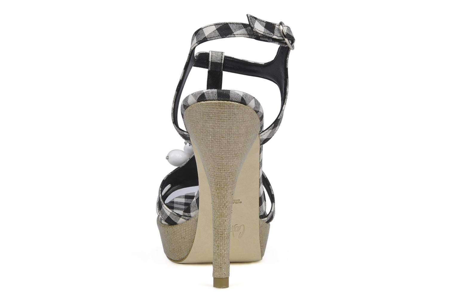 Sandals Castaner Missy Black view from the right
