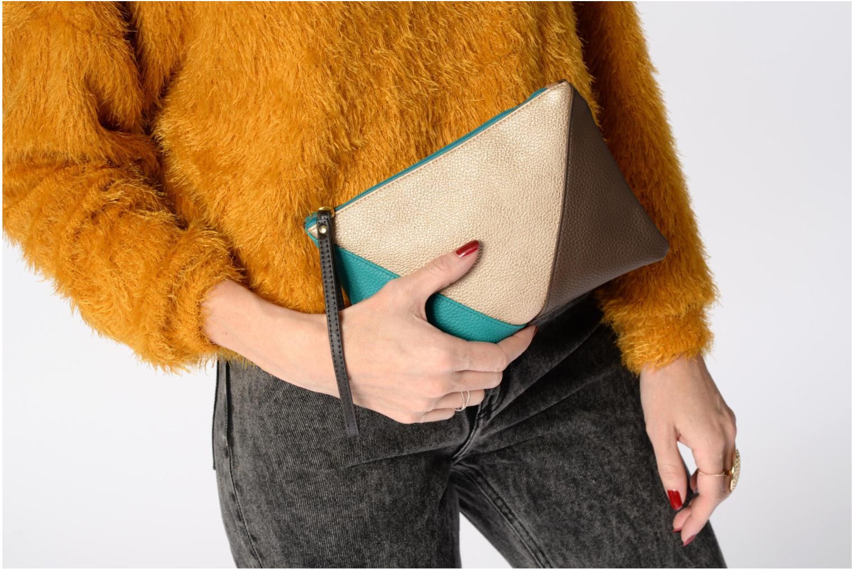Sacs pochettes Bensimon Zipped pocket Vert vue haut