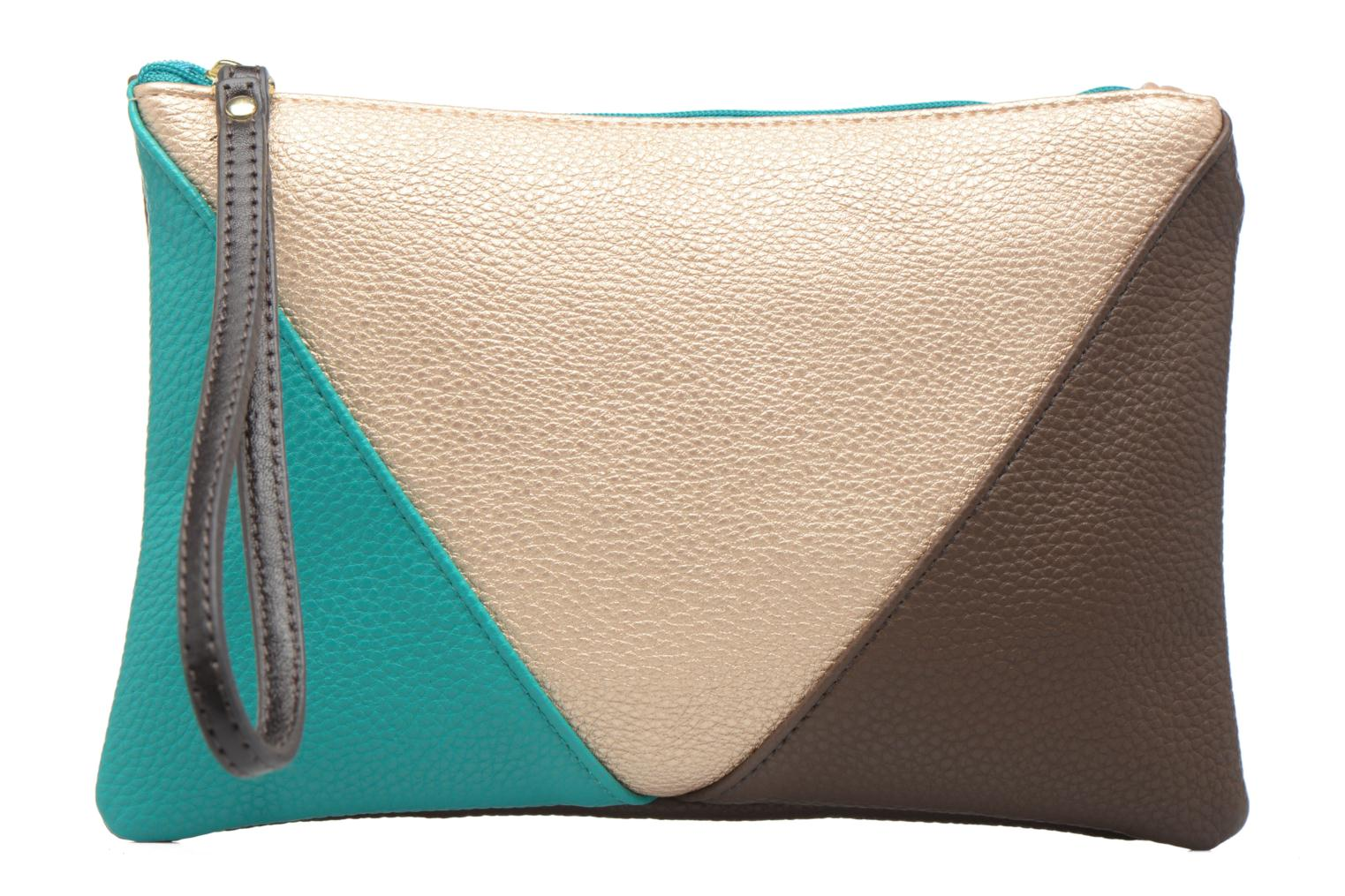 Zipped pocket Kaki/turquoise