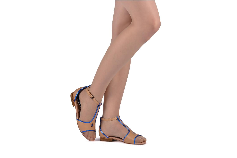 Sandales et nu-pieds C.Petula Starsky Noir vue bas / vue portée sac