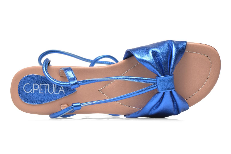 Sandales et nu-pieds C.Petula Rizzo Bleu vue gauche