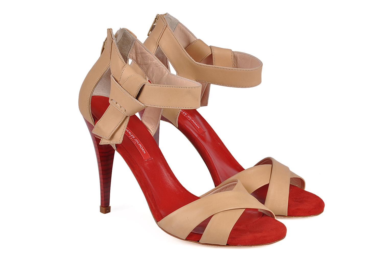 Sandals Charles Jourdan Pollock 1 Red 3/4 view