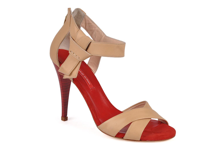 Sandals Charles Jourdan Pollock 1 Red detailed view/ Pair view