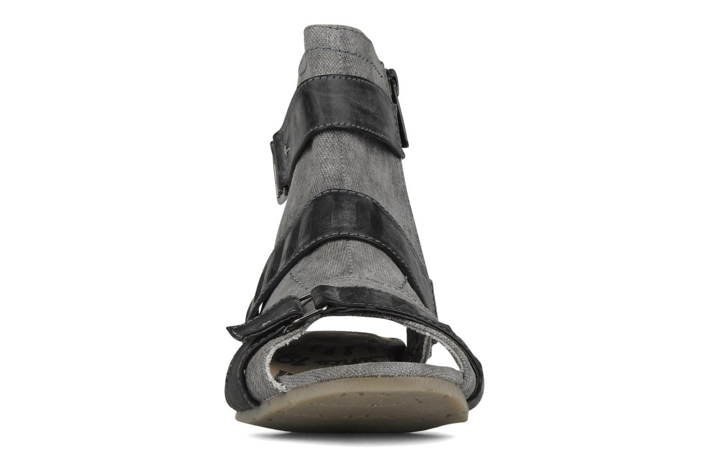 Sandalen Mustang shoes Xeba grau schuhe getragen
