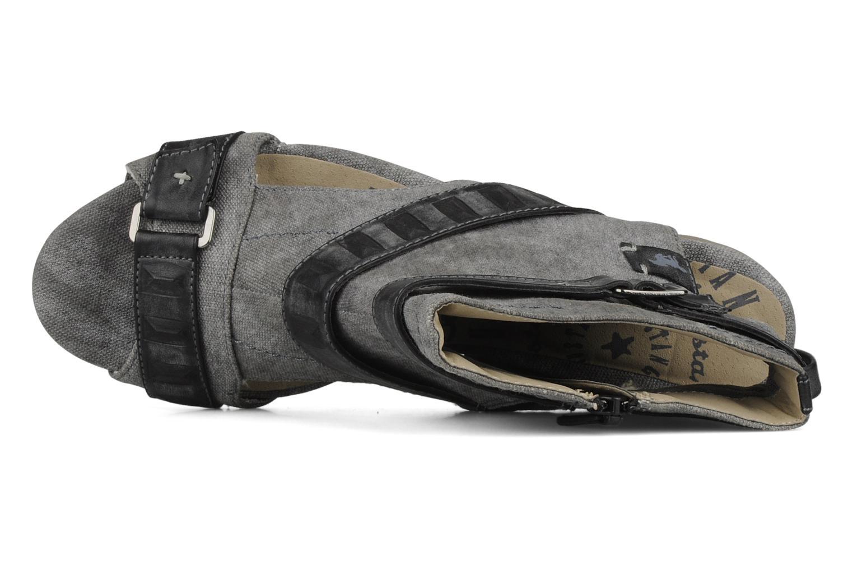 Sandalen Mustang shoes Xeba grau ansicht von links