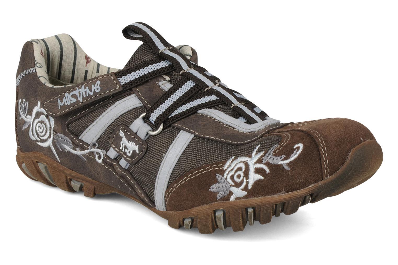 Baskets Mustang shoes Bache Marron vue détail/paire