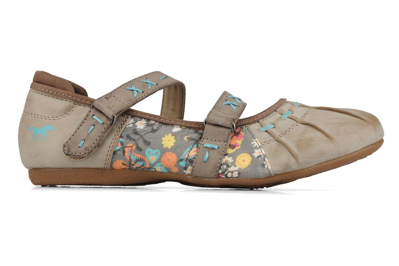 Ballerina's Mustang shoes Sorraia Beige achterkant