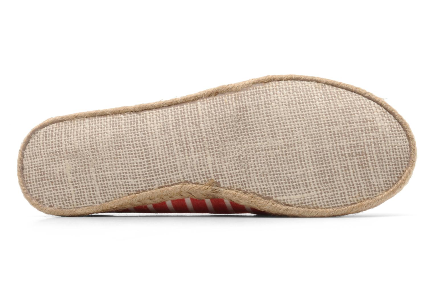 Espadrilles Rocket Dog Clover seaside stripe Red view from above
