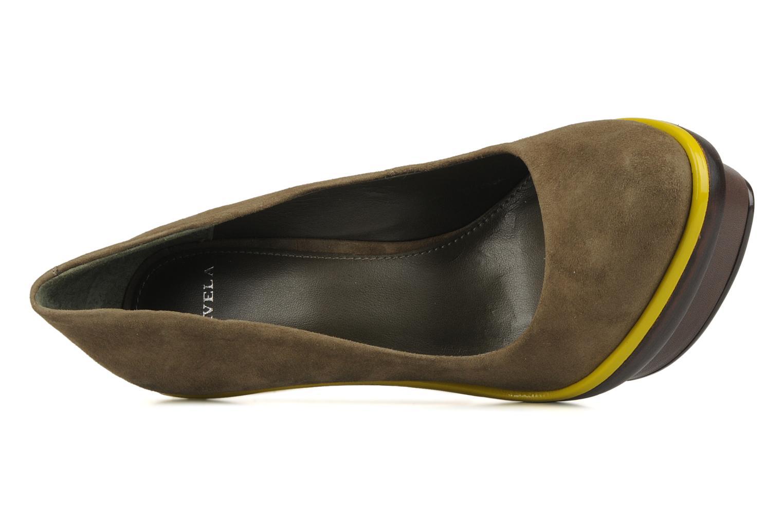 Zapatos de tacón Carvela Alpha Verde vista lateral izquierda
