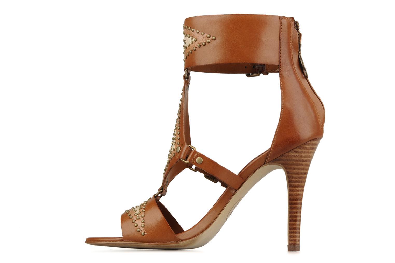 Sandales et nu-pieds Ash Helia Marron vue face