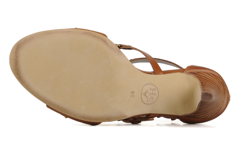 Sandales et nu-pieds Ash Helia Marron vue haut