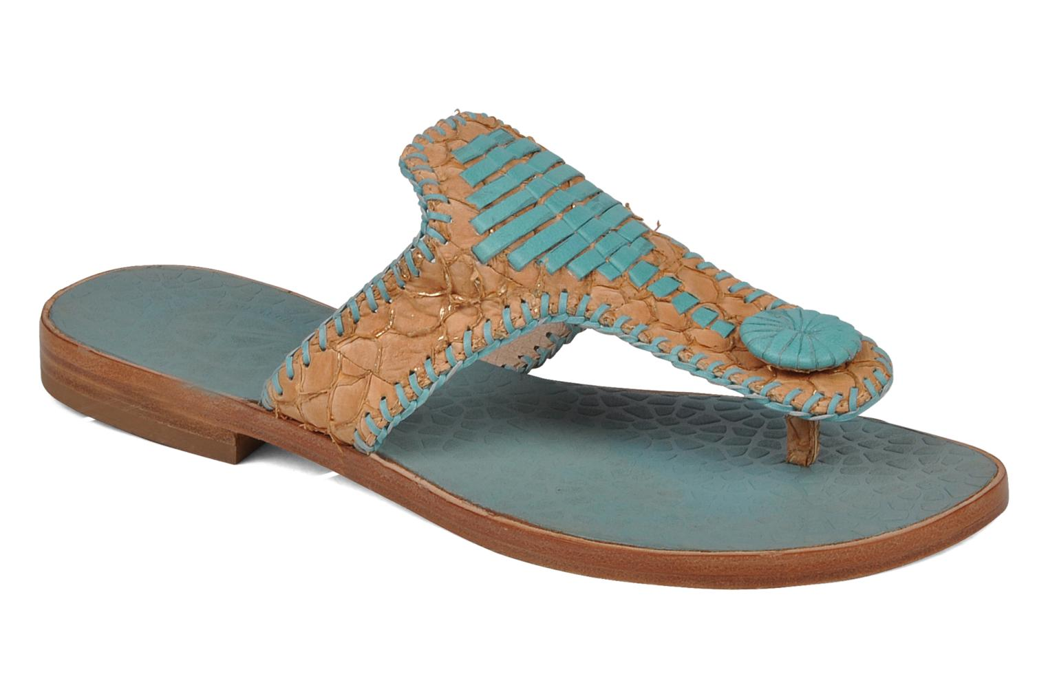 Flip flops House of Harlow 1960 Emerson Blue detailed view/ Pair view