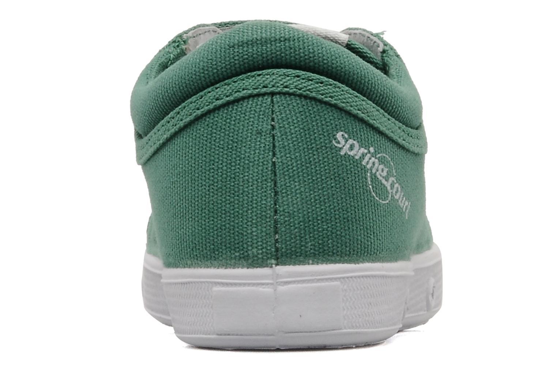 Baskets Spring Court Ge1 pad velcro Vert vue droite