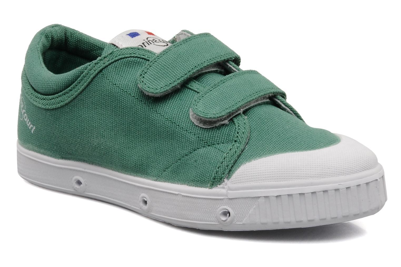 Baskets Spring Court Ge1 pad velcro Vert vue détail/paire