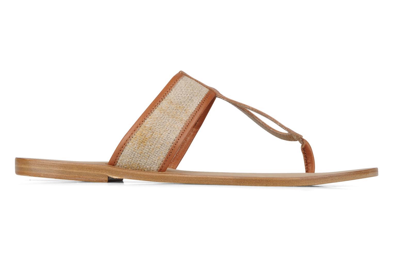Slippers Tatoosh Piana Bruin achterkant