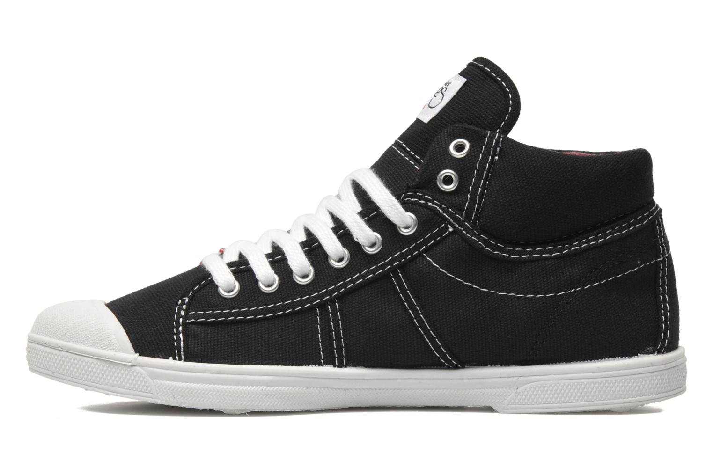 Sneaker Le temps des cerises Basic 03 schwarz ansicht von vorne