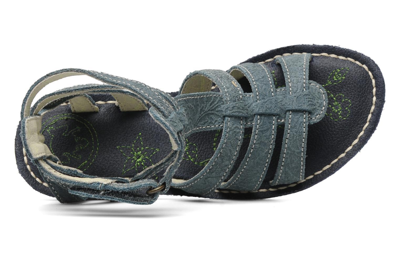 Sandales et nu-pieds El Naturalista Quercus 143 Bleu vue gauche