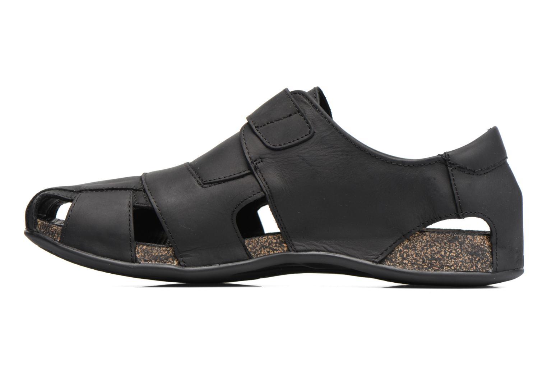 Sandals Panama Jack Fletcher Black front view