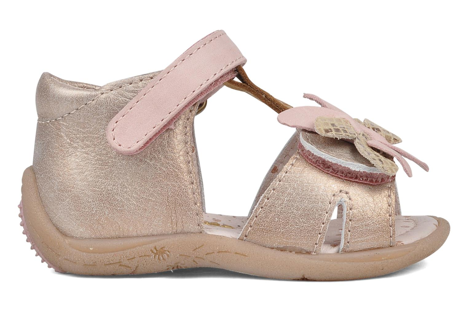 Sandals Babybotte Trezor Bronze and Gold back view