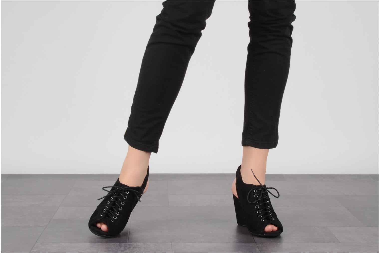 Sandalen No Name Diva open toe schwarz ansicht von unten / tasche getragen