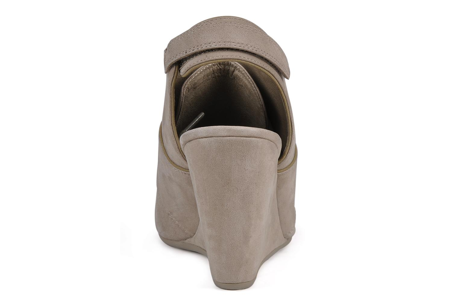 Sandals No Name Diva open toe Grey view from the right