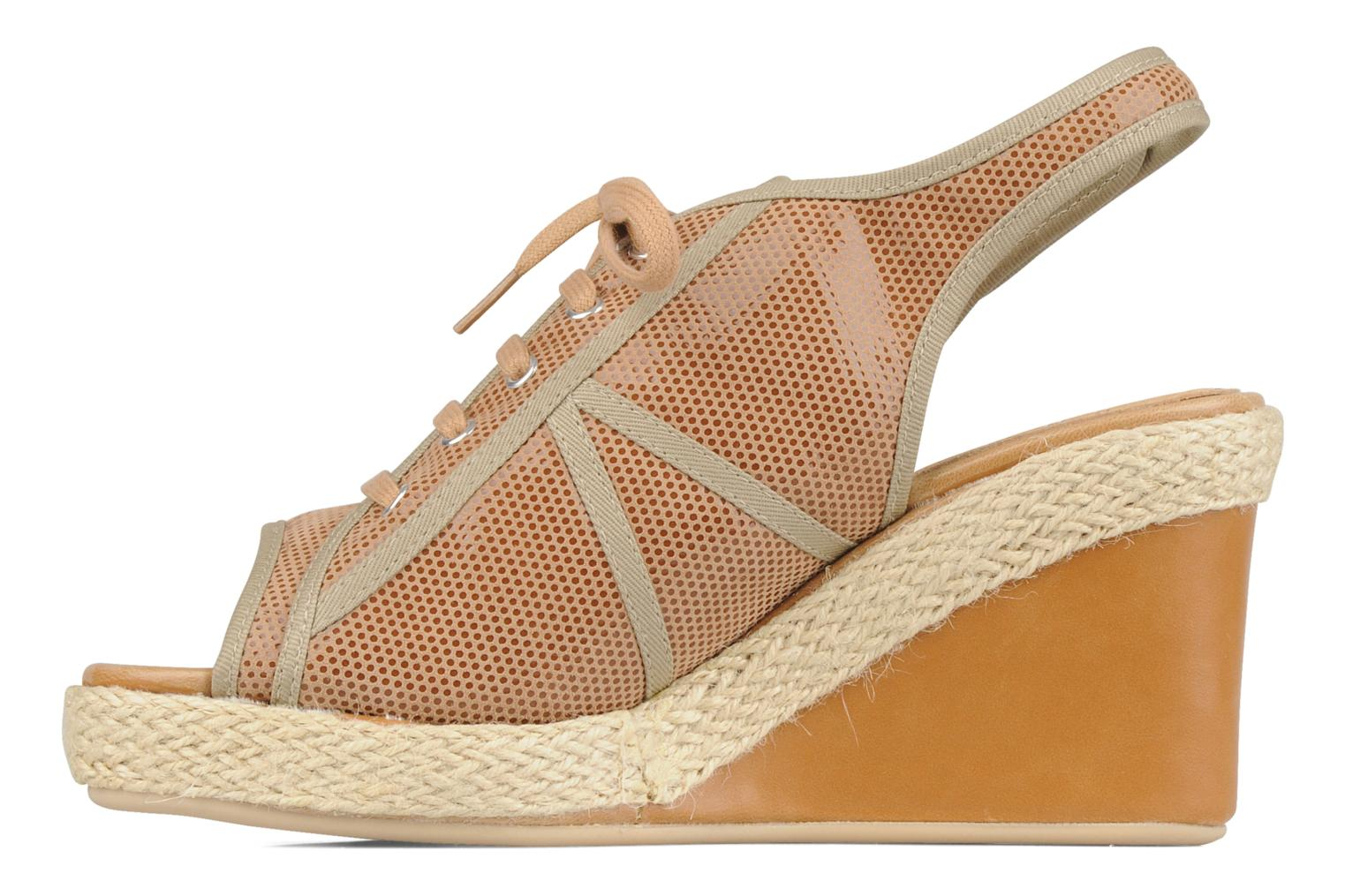 Sandals No Name Malaga tennis city Beige front view
