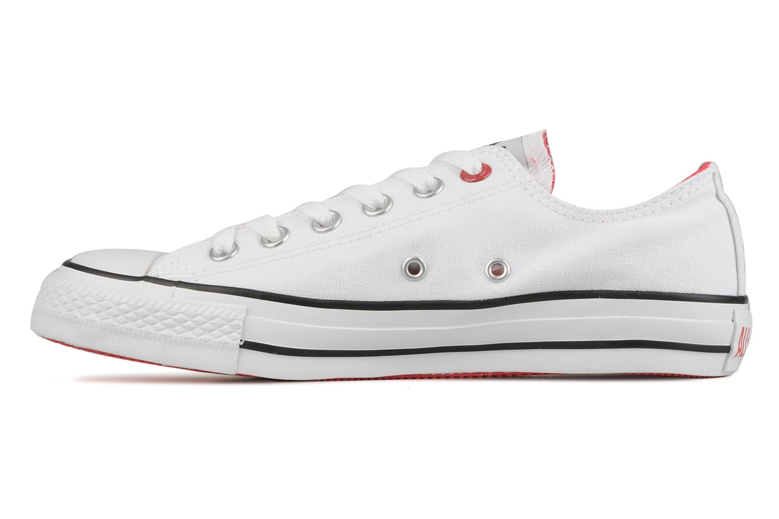 Trainers Converse Chuck taylor all star red i am … ox w White front view