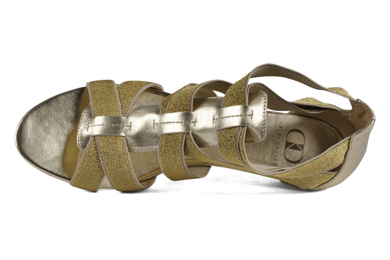 Sandales et nu-pieds Kelsi Dagger Dylana Or et bronze vue gauche