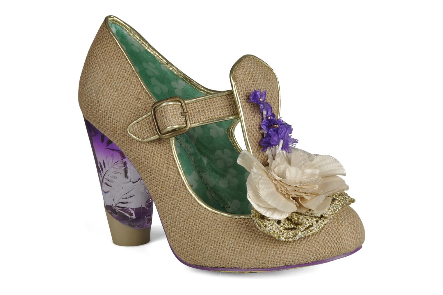 Escarpins Irregular Choice Cant touch this Beige vue détail/paire